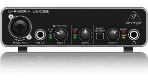 INTERFACE ÁUDIO BEHRINGER USB UMC HD MIDAS UMC22 2 CANAIS