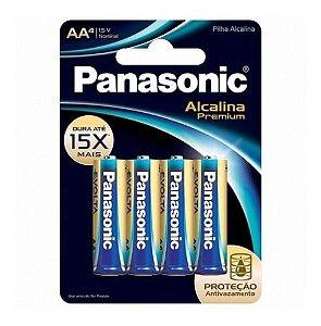 PILHA ALCALINA PANASONIC PREMIUM AA C/ 4UND