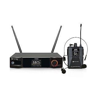 MICROFONE SEM FIO HEADSET KADOSH KDSW-401 UHF + NOTA FISCAL