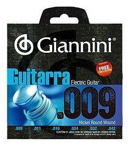 ENCORDOAMENTO GUITARRA GIANNINI 0.009 GEEGST 9