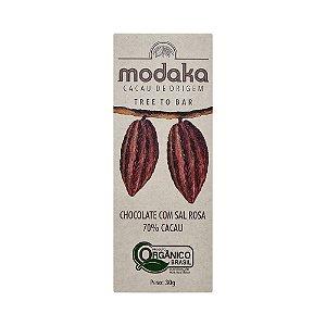 Modaka 70% com Sal Rosa - Barra 30g