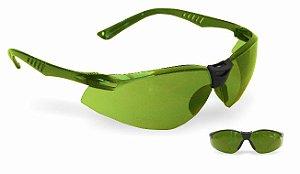 Óculos de Proteção Neon Verde Antiembaçante