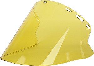 Viseira Cilíndrica para Protetor Facial Amarelo