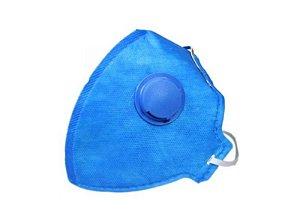 Máscara Dobrável Descartável PFF1 S com Válvula