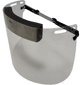 Protetor Facial Face Shield com Viseira Plana e Espuma