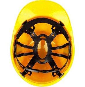 Capacete Completo Genesis Amarelo com Carneira Plástica Pino