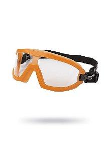Óculos de Proteção Ampla Visão Aviator Laranja Antiembaçante
