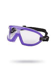 Óculos de Proteção Ampla Visão Aviator Roxo Antiembaçante