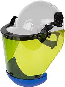 Kit Protetor Facial Cilíndrico para Eletricista Arc-Flash