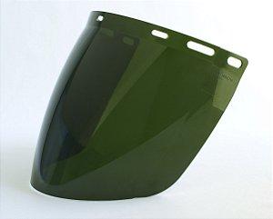 Viseira para Protetor Facial Tipo Bolha Verde