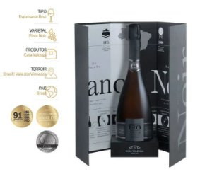 Kit Espumante 130 Brut Blanc De Noir Com Embalagem especial