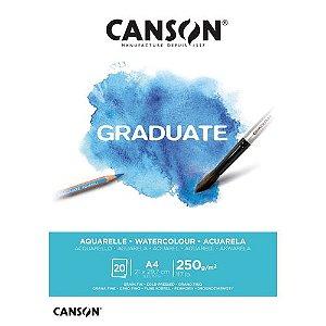Bloco Canson Graduate Aquarela A4 250g - 20 Folhas
