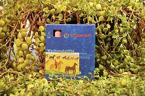 Giz de cera bastão Stockmar - caixa com 12 cores básicas