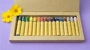 Giz de cera bastão Apiscor - caixa com 16 cores