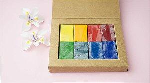 Giz de cera bloco Apiscor - caixa com 8 cores básicas