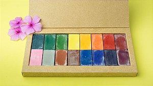 Giz de cera bloco Apiscor - caixa com 16 cores