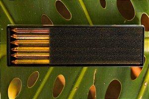 Estojo com grafites multicoloridas para lapiseira - 6 unidades