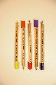 Lápis grosso hexagonal com prolongador Lyra - 12 cores