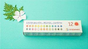 Lápis grosso hexagonal Stockmar - 12 cores básicas