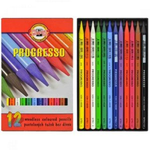 Grafite integral colorida Progresso - caixa com 12 cores