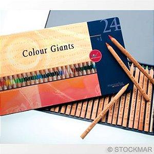 Lápis grosso Lyra Colour Giant - lata com 24 cores