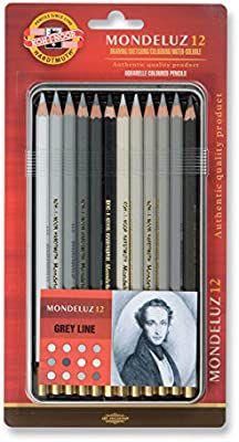 Lápis De Cor Mondeluz Estojo Com 12 Cores Gray