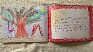 Cadernos sem pauta com seda