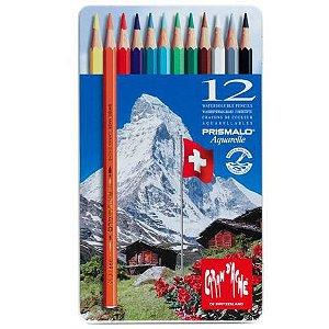 Lápis de cor aquarelável Prismalo Caran d'Ache  - 12 cores
