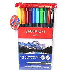 Caneta Fibralo Brush Caran d'Ache - 10 cores