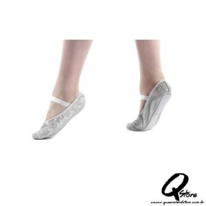 Sapatilha Glitter de Ballet Prata - QueenslandStore