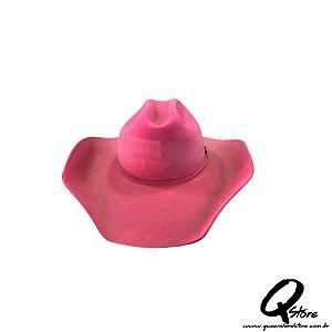 Chapéu Cowboy Camurça-Rosa
