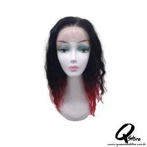 Peruca Lace Front Frisada -WNCL1029 Cor T1B/RED#