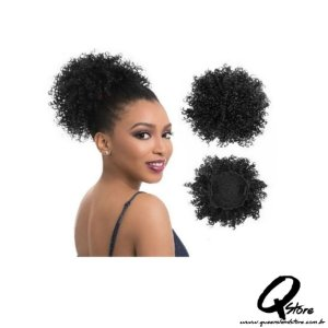 Coque Puff Afro Orgânico Fashion Line  - Cor 2(Castanho Escuro)
