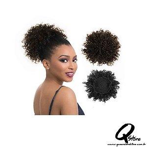 Coque Puff Afro Orgânico Fashion Line  - Cor 4(Castanho Claro)