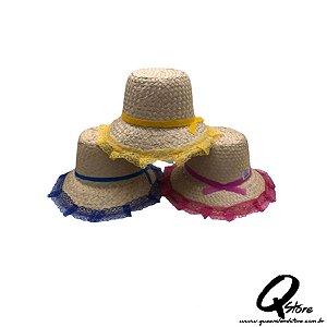 Chapéu de Palha Renda sem Trança - Adulto