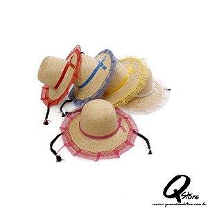 Chapéu de Palha Renda c/ Trança - Adulto