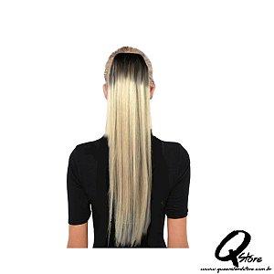 Aplique Rabo de Cavalo Liso Bio Fibra 80 cm Cor:T4/613 - Fashion Line