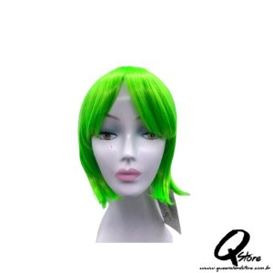Peruca Sintética Modelo Cosplay Chanel- Cor Verde