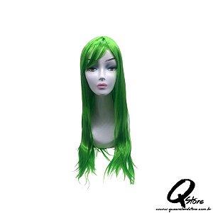 Peruca Sintética Modelo Cosplay Longa - Cor Verde