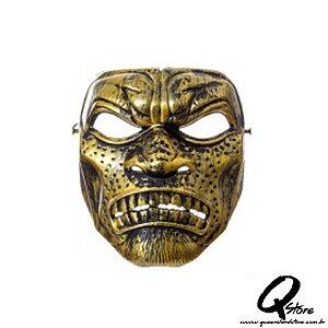 Máscara Plástica Inca Dourado