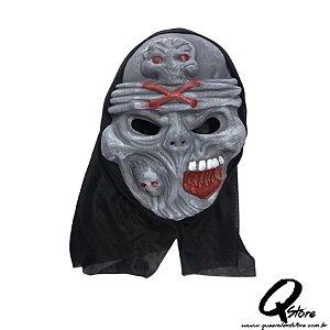 Máscara Esqueleto EVA c/ Capuz  -Simples