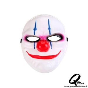 Máscara Palhaço Riscado - Plástico