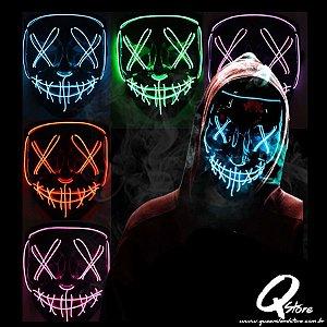 Máscara Noite de Crime Led Unidade- Cores Diversas