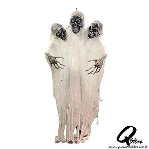 Boneco Halloween Fantasma 3 Cabeças Led  - 1 Unidade