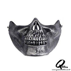 Máscara Boca Caveira Prata