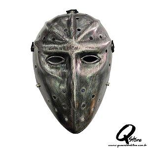 Máscara Espartano Prata -Plástico