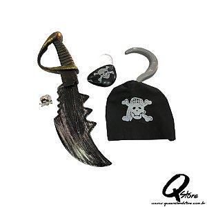 Kit Pirata c/ 4 peças-Plástico
