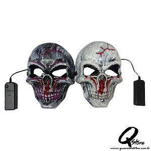 Máscara Caveira Led Unidade- Cores Diversas