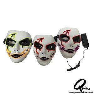 Máscara Clown Led Unidade- Cores Diversas