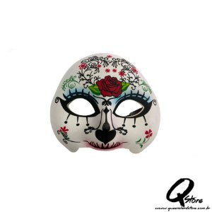 Máscara Caveira Mexicana Meio Rosto